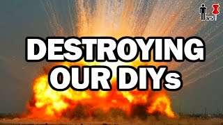 DESTROYING OUR DIYs - Man Vs Pin #111