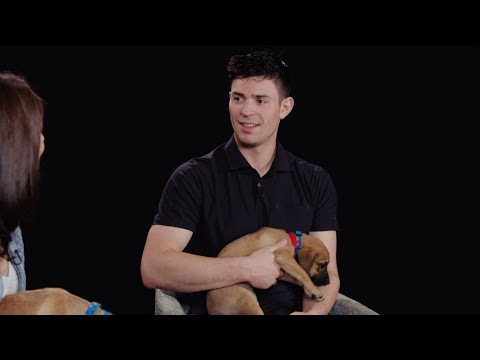 Carey Price interview interrupted by puppies