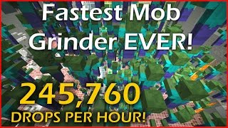 Fastest Mob Grinder Ever in Minecraft | 245,760 DROPS PER HOUR!