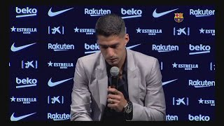 Luis Suarez Bids Tearful Farewell To Barcelona