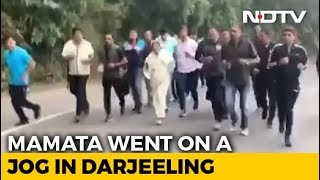 CM Mamata jogs 10 km in Darjeeling for nature conservation..