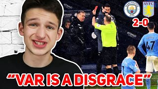 Thogden Reacts To VAR Allowing Man City Goal vs Aston Villa