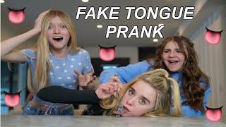 FAKE TONGUE PRANK On My FRIENDS *TIKTOK PRANK👅🙊*