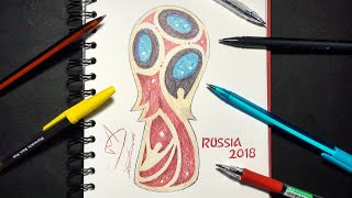 HOW TO DRAW THE WORLD CUP LOGO | RUSSIA 2018 | SKETCH SUNDAY