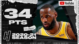 LeBron James 34 Points Full Highlights vs Bucks | January 21, 2021 | 2020-21 NBA Season