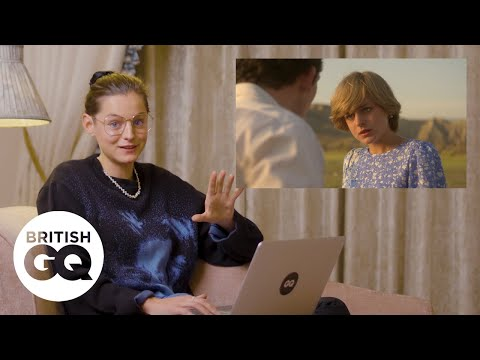 Emma Corrin reacts to her Princess Diana scenes in The Crown | GQ Action Replay | British GQ