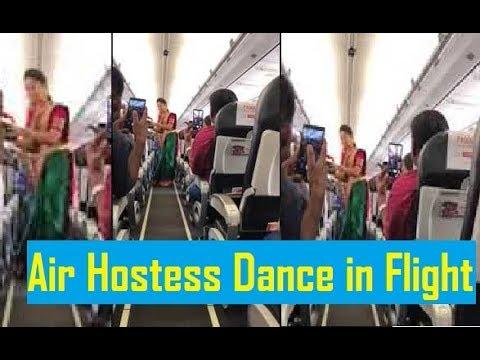 Air hostesses perform Bathukamma dance in flight