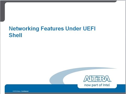 Networking Features under the UEFI shell