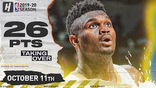 Zion Williamson CRAZY Full Highlights vs Utah Jazz (2019.10.11) - 26 Pts, 5 Reb!