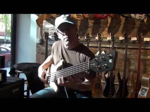 Tom Desmond Playing Warwick Streamer Stage 1 - NYC - Andy Irvine