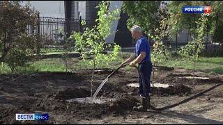 В Омске у нового Кадетского корпуса завершаются работы по благоустройству территории