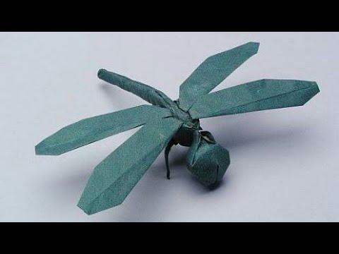 折纸 手工折纸 儿童折纸 漂亮的折纸蜻蜓