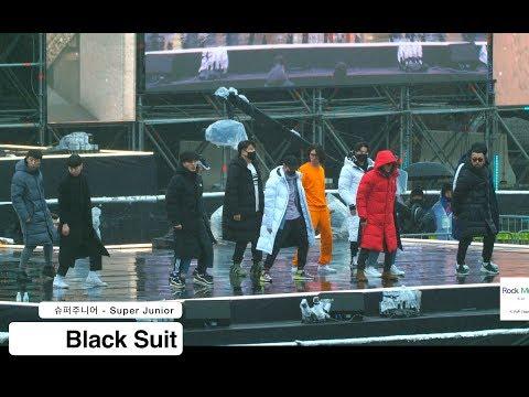 슈퍼주니어 - Super Junior[4K Rehearsal 직캠]Black Suit@180224 락뮤직