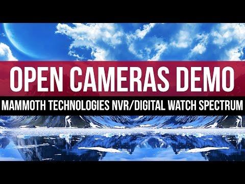 Open Camera Windows: Mammoth Technologies NVR with Digital Watch Spectrum