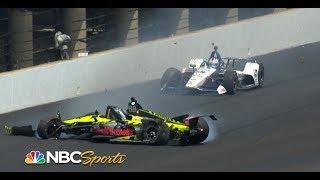 Sebastien Bourdais, Graham Rahal trigger multi-car wreck | Indy 500 | Motorsports on NBC