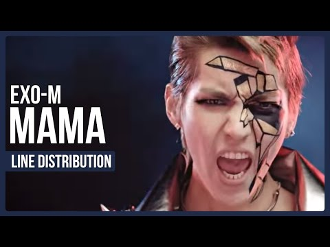 EXO-M - MAMA Line Distribution (Color Coded)