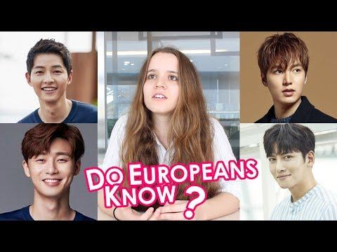 한국 남자연예인 처음 본 유럽 친구들의 반응!