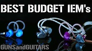 BEST Budget In-Ear Monitors (Universal fit IEM's) UNDER $70