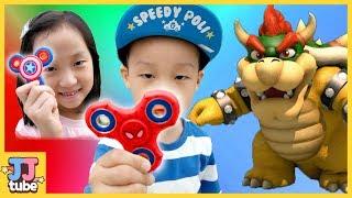 마블 피젯 스피너로 쿠파를! 어벤져스 피젯 큐브 장난감 슈퍼마리오 바우져 Spiner  Super Mario Bowser [제이제이 튜브-JJ tube]
