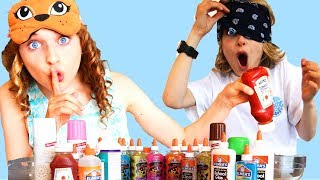 Sockie cheated* BLINDFOLDED SLIME  CHALLENGE GONE WRONG!!!