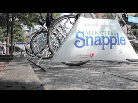 EcoMedia Vignette: Snapple/Hudson River Park Event Bike Racks