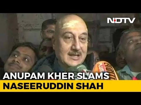 """""""How Much More Freedom Do You Want?"""": Anupam Kher Slams Naseeruddin Shah"""