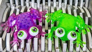 Frog Eggs Shredded! Squishy Frog and Animal Toys Destroyed! What's Inside Slime Water Bath Toys?
