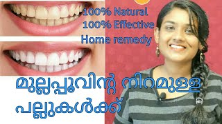 Teeth whitening at home||Teeth cleaning||How to remove yellow teeth at home||Malayalam