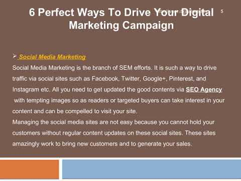 6 Perfect Ways To Drive Your Digital Marketing Campaign – DigitalSeed | Digital Marketing Company in pune.