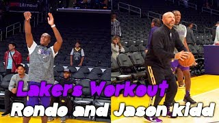Lakers Workout Rajon Rondo vs Jason Kidd Workout