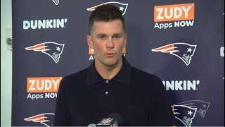 "Tom Brady on Antonio Brown "" He has a great football IQ"" Patriots def Dolphins 43-0"