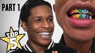 TOP 5 | RAPPER'S GRILLZ ( Travis Scott, Kevin Gates, ASAP Rocky )