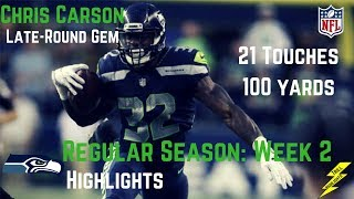 Chris Carson Week 2 Regular Season Highlights Seals The Win   9/17/2017
