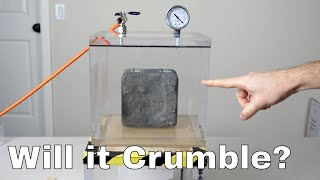 Does Concrete Turn to Dust in a Vacuum Chamber? Concrete Without Oxygen Experiment
