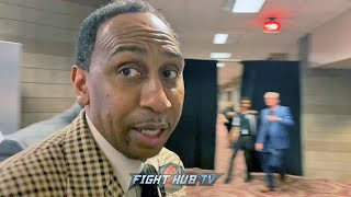"""TOTALLY OUTCLASSED HIM!"" STEPHEN A SMITH REACTS TO TYSON FURY KNOCKOUT OF DEONTAY WILDER"