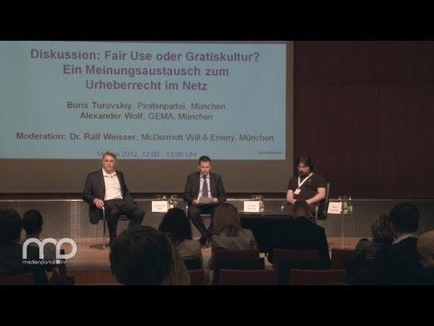 Diskussion: Fair Use oder Gratiskultur - Urheberrecht im Netz