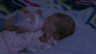 Reborn Baby Laelynn's 3 A.M. Feeding During A Thunderstorm. Relaxing Feeding And Changing (Roleplay)
