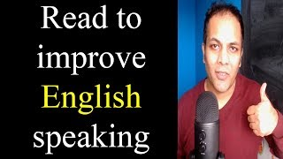How to improve English speaking skills by Reading   Learn English through Hindi