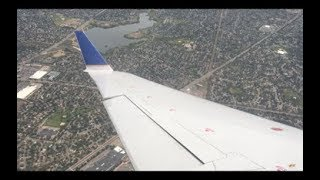 United Express CRJ-200 Full Descent and Landing at Denver International Airport