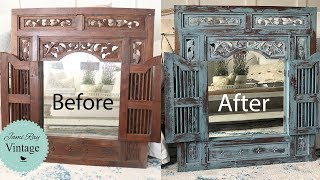 Painted Furniture | Chippy Painted Mirror | Milk Paint