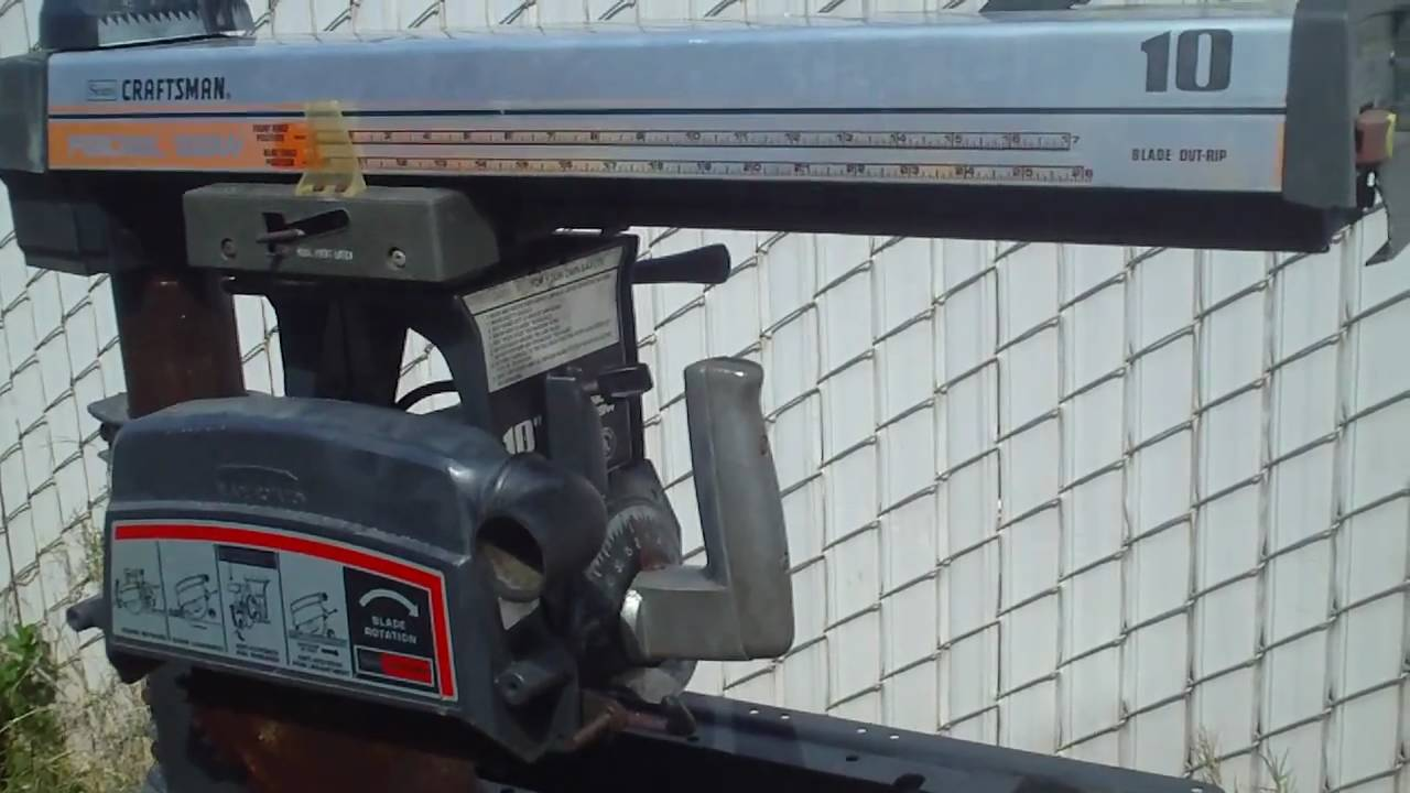 Craftsman 10 Quot Radial Arm Saw Youtube