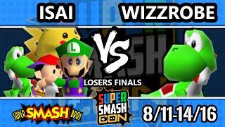 SSC 2016 Smash 64 - Isai (Luigi, Ness, Yoshi, Pikachu) Vs. Wizzrobe (Yoshi) - SSB64 Losers Finals