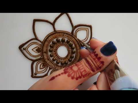 Intricate Mandala Henna Tutorial Henna Art By Aroosa