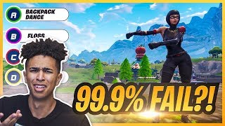Guess That Fortnite Dance! *99.9% PERFECT SCORE FAIL*