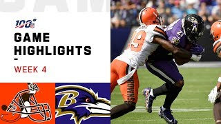 Browns vs. Ravens Week 4 Highlights | NFL 2019