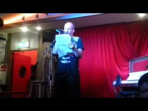 A MysterE w.Marcel Kick - Poetry with live guitar improv, 9-9-2015 @ Einde van de Wereld, Amsterdam