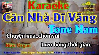 Karaoke 7979 Căn Nhà Dĩ Vãng Nhạc Sống Tone Nam || Hiệu Organ Guitar 7979