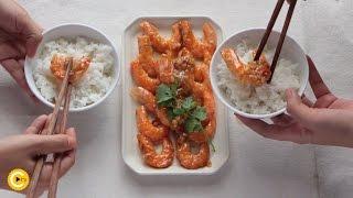 Cách làm TÔM RIM TỎI MẶN NGỌT   Món ăn ngon - Ẩm thực đường phố tôm rim  Huong dan - Cooky TV