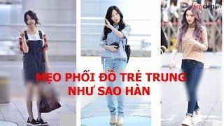 Học sao Hàn U30 phối đồ trẻ trung như gái 18 đẹp mê ly