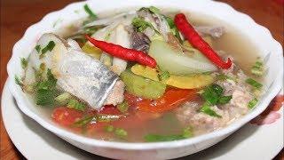 របៀបធ្វើ សម្លម្ជូរយួន | How To Make Vietnamese Sour Fish - មេផ្ទះ (Housewife)